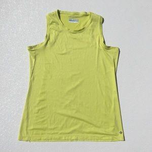 Columbia tank Yellow Omni Freeze Workout Large